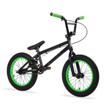 """Elite BMX Pee Wee 16"""" Bike 2020 in black and green at Albe's BMX Online"""