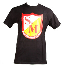 S&M OG Shield T-Shirt in black at Albe's BMX Online