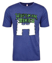 Hoffman Flaming H T-Shirt in blue at Albe's BMX Online