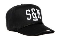 S&M SMU Snapback Hat in black at Albe's BMX Online