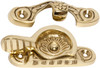 Sash Fastener - Patterned - Polished Brass