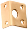 Right Angle Keeper - 9mm Bolt - Polished Brass
