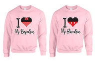 I love My Girlfriend I love My boyfriend couples gifts Sweatshirt