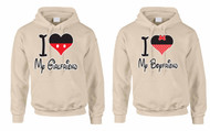 I love My Girlfriend I love My boyfriend couples gifts Hooded Sweatshirt