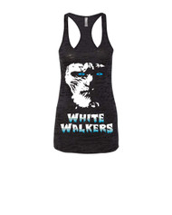 White walkers Racerback Burnout Tank Top