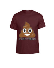 EMOJI Shit happens men T-Shirts