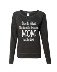 Mothers day Worlds Best Mom Ladies Long Sleeve