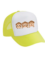 3 Monkeys  Emoticon Valucap Foam Trucker Cap