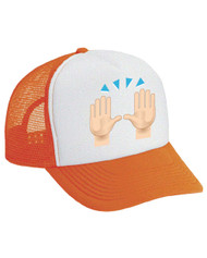 Celebration hands Emoticon Valucap Foam Trucker Cap