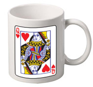 Queen of hearts coffee tea mugs gift