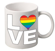 LOVE coffee tea mugs gift