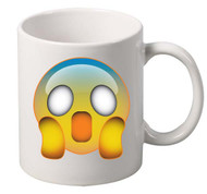 EMOJI Frightened coffee tea mugs gift