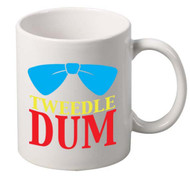 Tweedle Dum coffee tea mugs gift