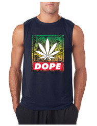 Marijuana Cannabis Dope GYM Adult Sleeveless T Shirt