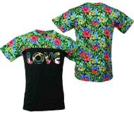 LOVE FLOWER PRINT TEE Shirt