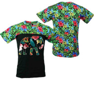 Elephant FLOWER PRINT TEE Shirt