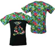 Diamond hand FLOWER PRINT TEE Shirt