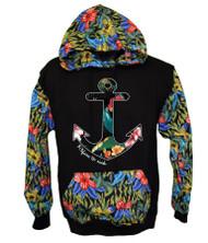 Anchor FLOWER PRINT Hooded Sweatshirt