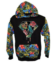 Dimond FLOWER PRINT Hooded Sweatshirt