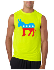 Democratic Donkey GYM Adult Sleeve less T Shirt