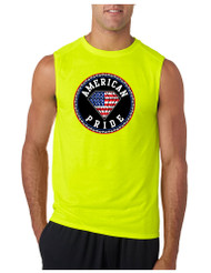 AMERICAN PRIDE GYM Adult Sleeve less T Shirt