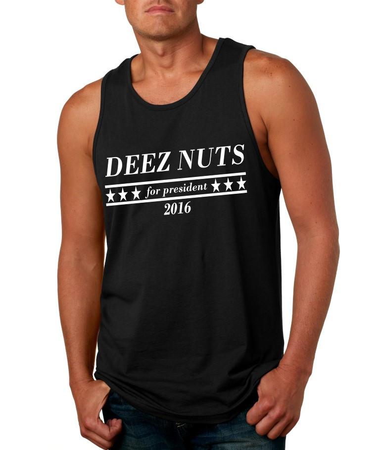 a1617919109df Deez Nuts for President 2016 Mens Jersey Tank Top Usa Size S