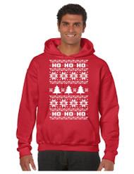 HO HO HO men Hooded Sweatshirt