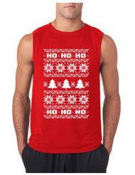 HO HO HO GYM Adult Sleeve less T Shirt