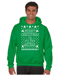 Merry Christmas Ya Filthy Animal men Hooded Sweatshirt