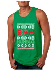 Bah Humbug Christmas Mens Jersey Tank Top