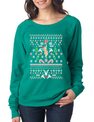 HO HO HO Christmas Stripper Ladies Long Sleeve
