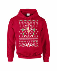 HO HO HO Christmas Stripper Women Hooded Sweatshirt