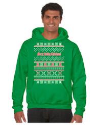 Merry Fucking Christmas men Hooded Sweatshirt