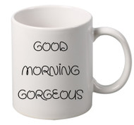 GOOD MORNING gorgeous coffee tea mugs gift