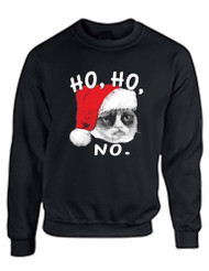 HO HO NO Grumpy Cat Women Sweatshirt
