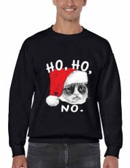 HO HO NO Grumpy Cat men Sweatshirt