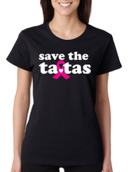 Save the ta tas Breast Cancer Missy Fit Ladies T Shirt