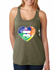 Equal Heart PRIDE Triblend Racerback Tank top