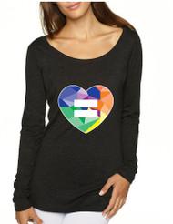 Equal Heart PRIDE Tri Blend Long Sleeve Scoop