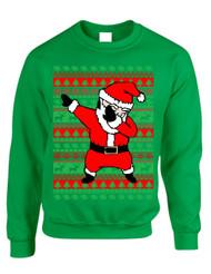 Dabbing Santa Claus Merry christmas Women Sweatshirt