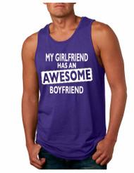 My Girlfriend has an awesome boyfriend Mens Jersey Tank Top