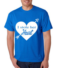I stole her heart valentine day‬‏ gift men T-Shirts