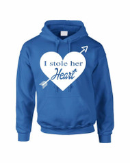 I stole her heart valentine day gift  Mens Hooded Sweatshirt