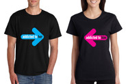 Addicted to her and Addicted to him couples Tshirts valentine