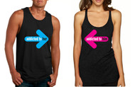 Addicted to her and Addicted to him couples Tank Tops valentine gift