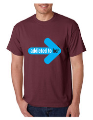 Addicted to her Men T-shirt valentine gift