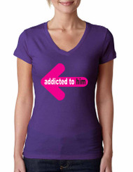 Addicted to him women Sporty Tee Shirt valentines day gift