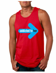 Addicted to her  Mens Jersey Tank Top valentine gift
