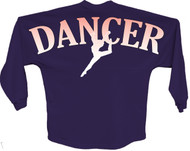 Dancer Orange pom print J america women Long sleeve shirt