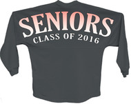 Seniors class of 2016 Orange pom print J america women Long sleeve shirt